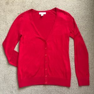 Forever 21 Red Cardigan Sweater